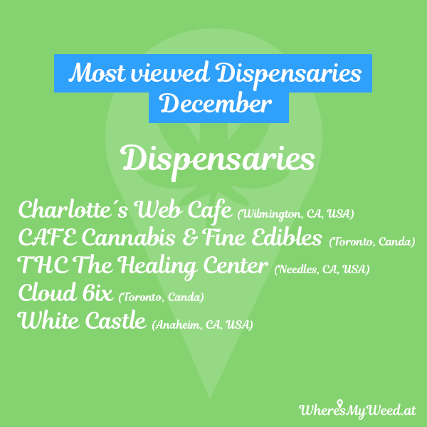 popular weed dispensaries in december